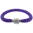 more details on Link Up Single Row Purple Crystal Bracelet.