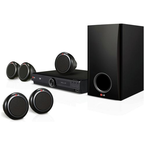 LG DH3140S 300W 5.1 Channel DVD Home Cinema System - Black