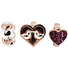 more details on Link Up Rose Gold Plated Silver Pink Love Birds Charms - 3.
