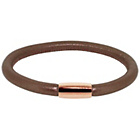 more details on Link Up Single Row Brown Leather Cord Bracelet.