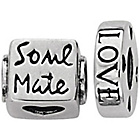 more details on Link Up Sterling Silver Soul Mate Charms - Set of 2.