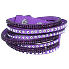 more details on Link Up Amethyst Warped Leather Glitter Bracelet.