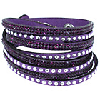 more details on Link Up Purple Warped Leather Glitter Bracelet.