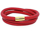 more details on Link Up 3 Row Red Leather Cord Bracelet.