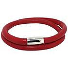 more details on Link Up 2 Row Red Leather Cord Bracelet.