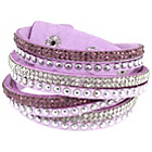 more details on Link Up Pink Warped Leather Glitter Bracelet.
