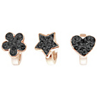 more details on Link Up Rose Gold Plated Flower, Heart and Star Charms - 3.