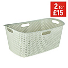 more details on Curver Rattan Laundry Basket - Cream.