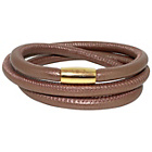 more details on Link Up 3 Row Brown Leather Cord Bracelet.