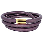 more details on Link Up 3 Row Purple Leather Cord Bracelet.