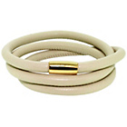 more details on Link Up 3 Row Cream Leather Cord Bracelet.