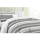 more details on Milan Grey Stripe Bedding Set - Kingsize.