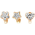 more details on Link Up Rose Gold Plated Heart, Flower and Star Charms - 3.