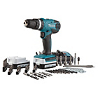 more details on Makita Hammer Drill and 74 Piece Accessories Set - 14.4V.