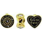 more details on Link Up Gold Plated Silver Forever Friends Charms - Set of 3