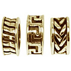 more details on Link Up Gold Plated Silver Greek Motif Charms - Set of 3.