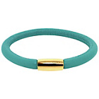 more details on Link Up Single Row Turquoise Leather Cord Bracelet.