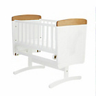 more details on Obaby B is for Bear Gliding Crib - White with Pine Trim.