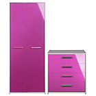 more details on Sywell 2 Piece 2 Door Wardrobe Package - Pink.