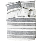 more details on Milan Grey Stripe Bedding Set - Double.
