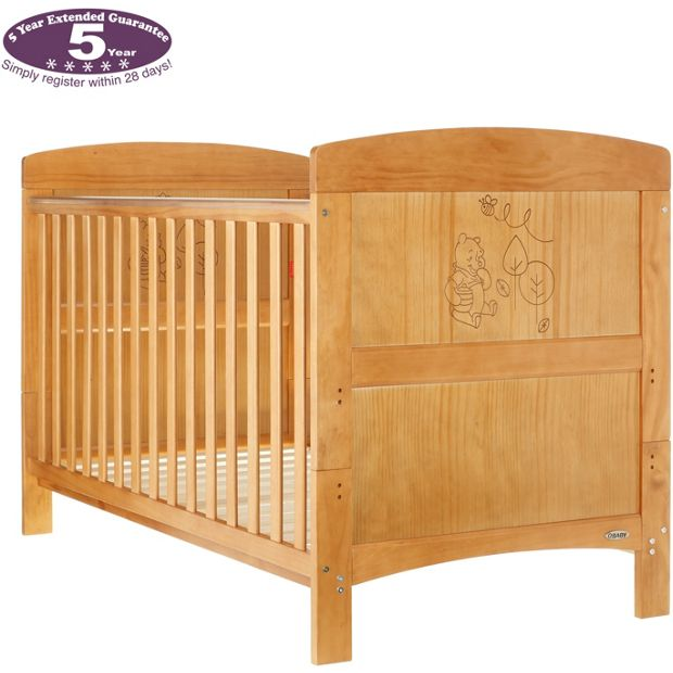 buy disney winnie the pooh cot bed country pine at argos. Black Bedroom Furniture Sets. Home Design Ideas