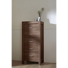 more details on Tutti Bambini Milan Tallboy 5 Drawer Chest - Walnut.