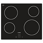 more details on Bosch PKE611D17E 4 Zone Quick-Therm Hob - Black.