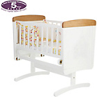more details on Disney Winnie the Pooh Gliding Crib - White with Pine Trim.