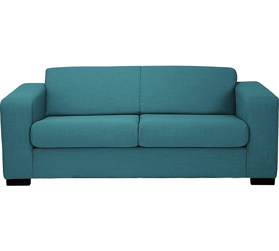 Buy hygena new ava 2 seater fabric sofa bed teal at for Sofa bed argos