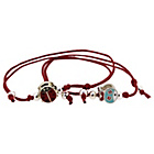 more details on Sterling Silver Kids Red Shambala Bracelets - Set of 2.