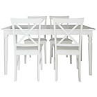 more details on Margo White Turned Leg Dining Table & 4 Cross Back Chairs.