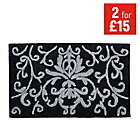 more details on Damask Bath Mat - Black.