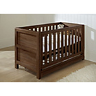 more details on Tutti Bambini Milan Cot Bed with Drawer - Walnut.