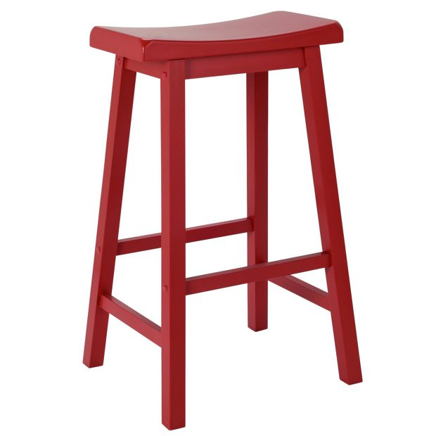 Buy Hygena Wooden Saddle Bar Stool Red At Argos Co Uk