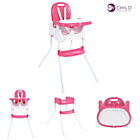 more details on MyChild Graze 3 In 1 Multi Highchair - Pink.