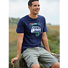 more details on Cherokee Mens Navy Slogan T-Shirt - Size Large.