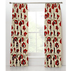 more details on Elissia Poppy Pencil Pleat Curtains 117x183cm Cream and Red.