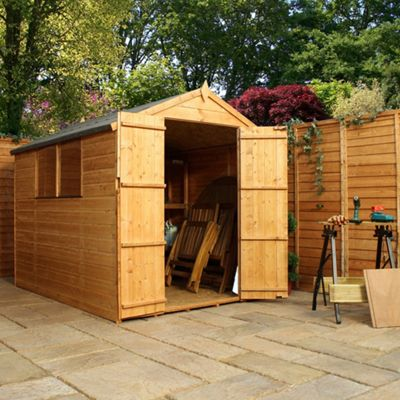Buy Rowlinson Greenvale Metal Apex Shed 10ft X 8ft At