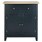 more details on Hygena Luna 2 Door 1 Drawer Sideboard - Black.