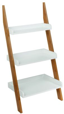 Buy Collection 3 Tier Bamboo Ladder Shelf Unit - Two Tone ...