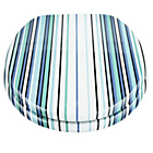 more details on Stripe Toilet Seat - Blue and Aqua.
