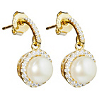 more details on Shimla Yellow Gold Pearl and Crystal Drop Earrings.