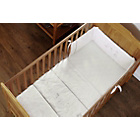 more details on Obaby Hello Little One Cot Quilt and Bumper Set - White.