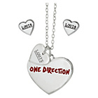 more details on 1D Louis Heart Necklace and Earrings Set.