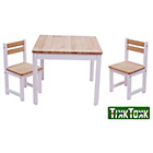 more details on Tikk Tokk Children's Envy Table and Chairs - White.