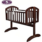 more details on Obaby Sophie Swinging Crib, Bedding and Mattress - Walnut.