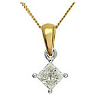more details on Made For You 18ct Gold 0.50ct Diamond Pendant Necklace.