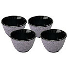 more details on BergHOFF Cast Iron Teabowls Set of 4 - Purple.
