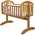more details on Obaby Sophie Swinging Crib, Bedding and Mattress - Pine.