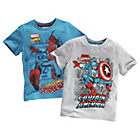 more details on Marvel Spiderman and Avengers T‑Shirt 2 Pack.